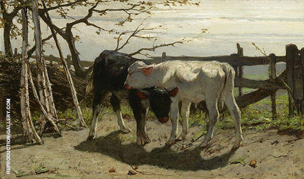 The Calves 1863 By Willem Maris