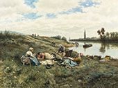 After Lunch The Edges of The Seine By Daniel Ridgway Knight