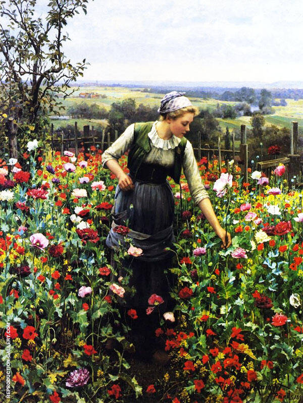 A July Morning Painting By Daniel Ridgway Knight - Reproduction Gallery