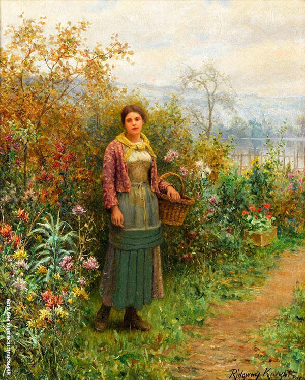 A Moments Pause Painting By Daniel Ridgway Knight - Reproduction Gallery