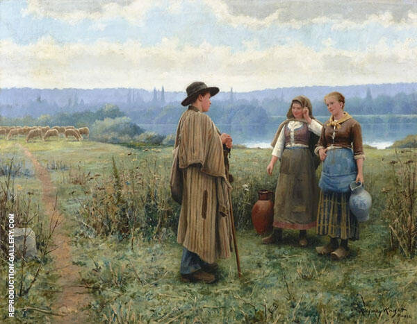 An Idle Moment Painting By Daniel Ridgway Knight - Reproduction Gallery