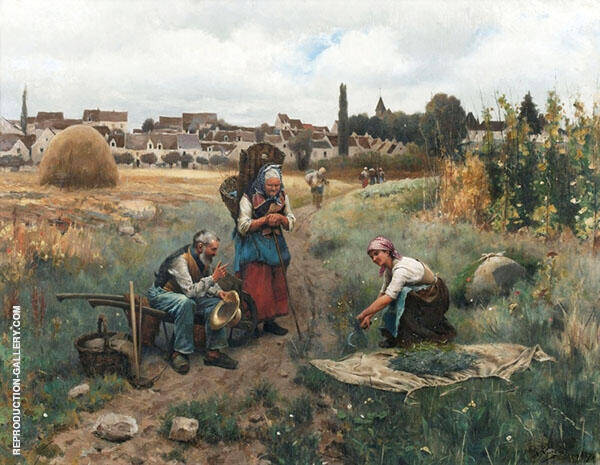 A Restful Moment Painting By Daniel Ridgway Knight - Reproduction Gallery