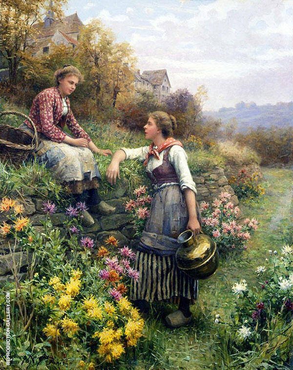 By The Way Painting By Daniel Ridgway Knight - Reproduction Gallery