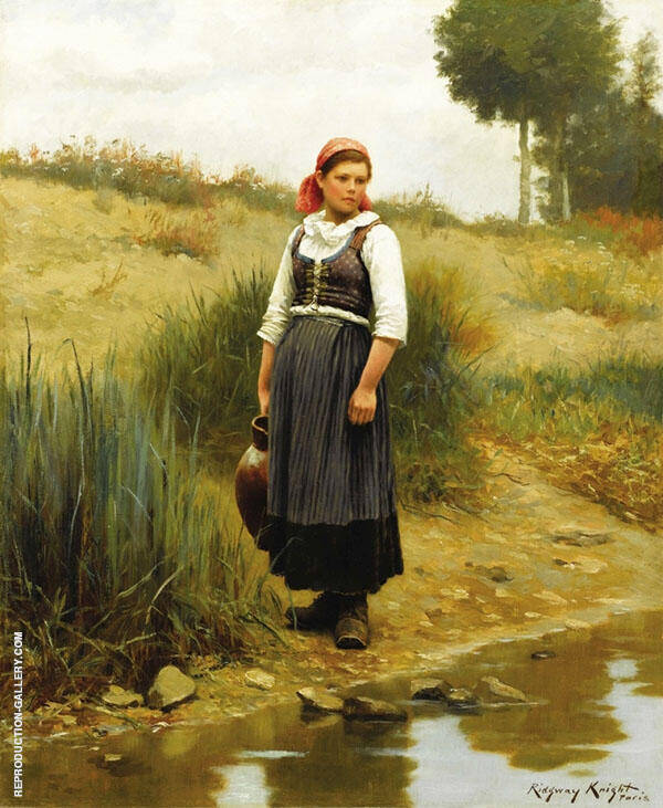 Daydreams Painting By Daniel Ridgway Knight - Reproduction Gallery