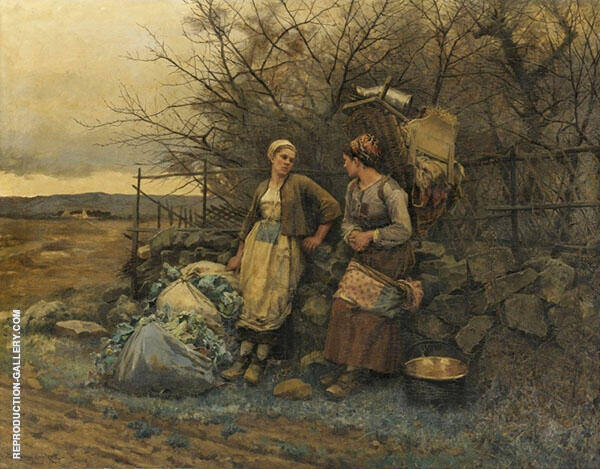 Maidens Waiting Painting By Daniel Ridgway Knight - Reproduction Gallery