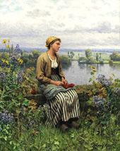 Normandy Girl By Daniel Ridgway Knight