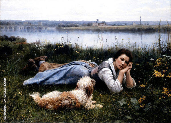 Reverie Painting By Daniel Ridgway Knight - Reproduction Gallery