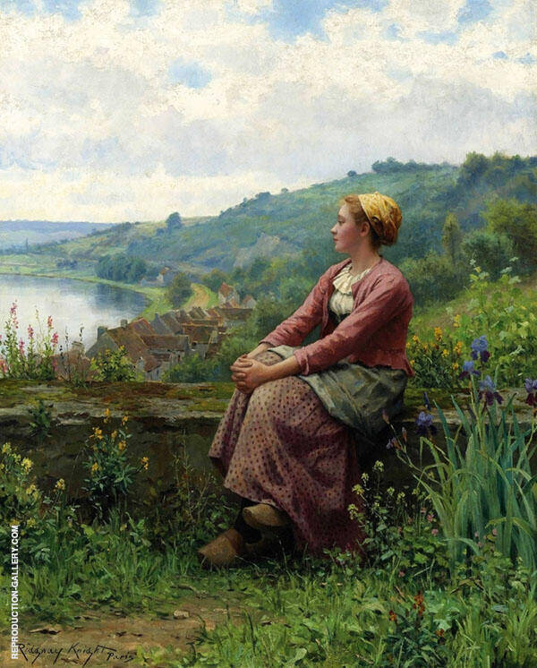 Reverie 2 Painting By Daniel Ridgway Knight - Reproduction Gallery