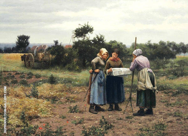 Taking a Break Painting By Daniel Ridgway Knight - Reproduction Gallery