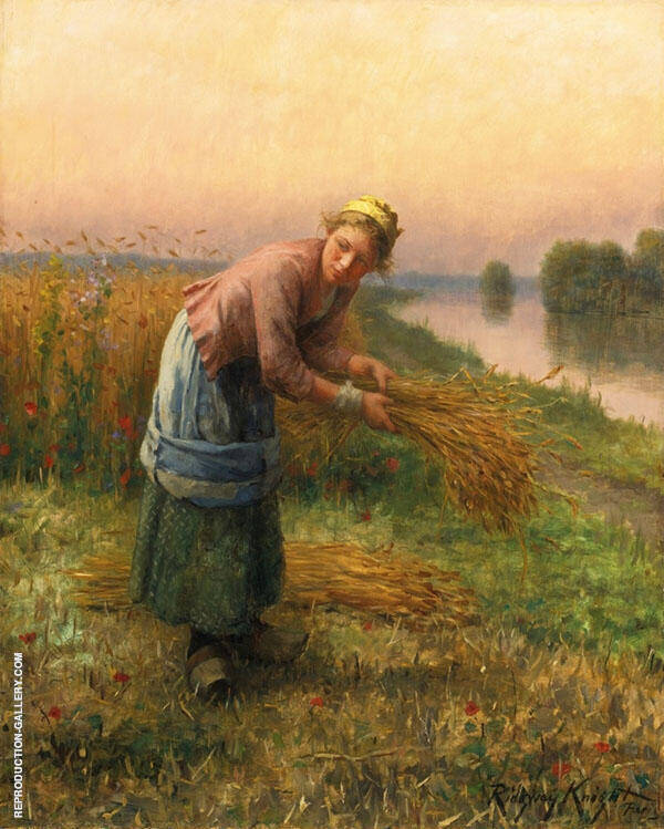 The Gleaner Painting By Daniel Ridgway Knight - Reproduction Gallery