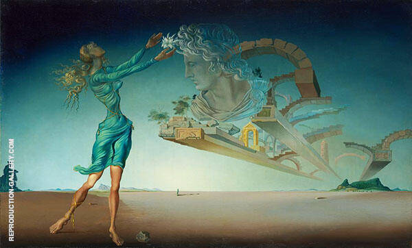 Trilogy of the desert Mirage 1946 Painting By Salvador Dali
