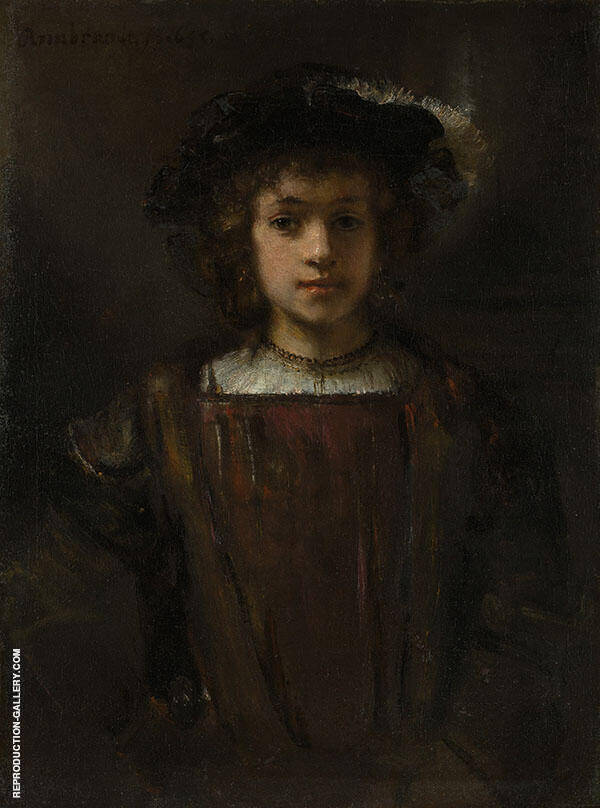 Style of Rembrandt, Rembrandt's Son Titus by Rembrandt Van Rijn | Oil Painting Reproduction Replica On Canvas - Reproduction Gallery