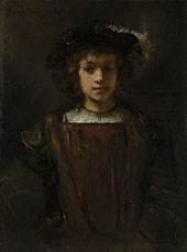 Style of Rembrandt, Rembrandt's Son Titus By Rembrandt Van Rijn