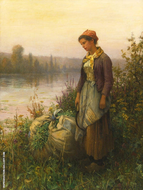 Twilight by Daniel Ridgway Knight | Oil Painting Reproduction Replica On Canvas - Reproduction Gallery