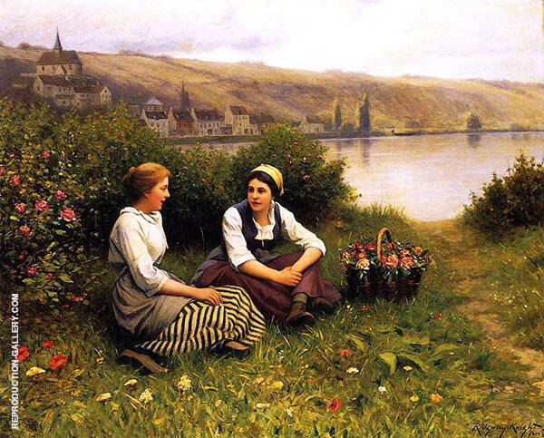 Waiting for The Ferryman Painting By Daniel Ridgway Knight