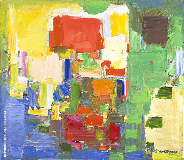 August Light 1957 By Hans Hofmann