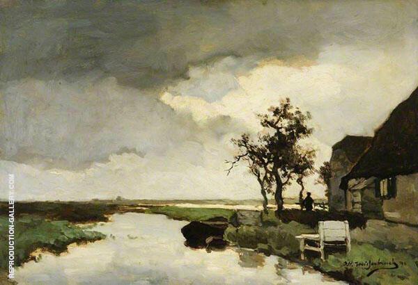 A Dutch Canal 1891 By Johan Hendrik Weissenbruch