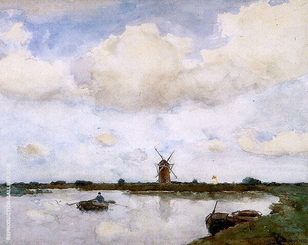 At The Lake By Johan Hendrik Weissenbruch