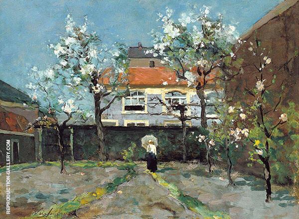 Back Garden at The Kazernestraat The Hague By Johan Hendrik Weissenbruch