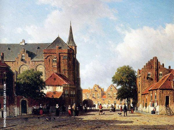 City View By Johan Hendrik Weissenbruch