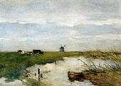 Dutch Polder Landscape By Johan Hendrik Weissenbruch