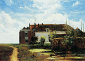 Farm Beside Canal in Polder By Johan Hendrik Weissenbruch