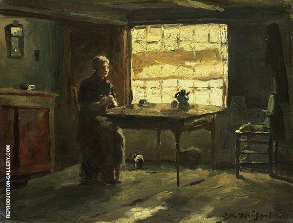 Farmhouse Interior Painting By Johan Hendrik Weissenbruch
