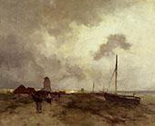 Fisherfolk Returning Home By Johan Hendrik Weissenbruch