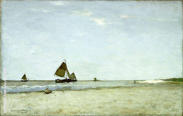 Fishing Boats 1899 Painting By Johan Hendrik Weissenbruch