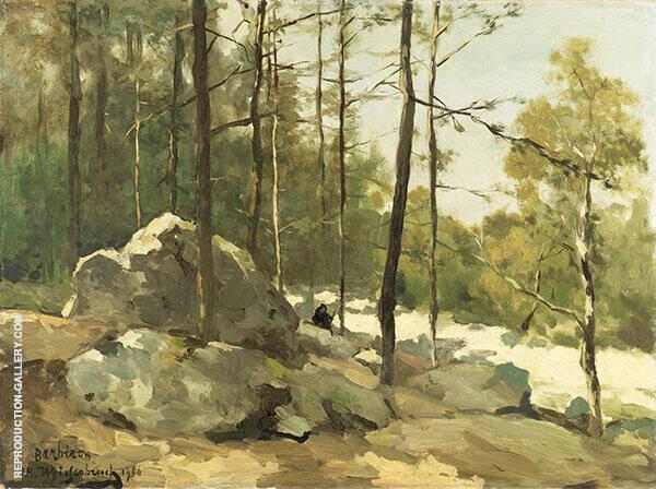 Forest View near Barbizon 1900 Painting By Johan Hendrik Weissenbruch