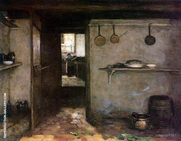 Glimpse into The House Under The Artists Home in The Hague 1888 By Johan Hendrik Weissenbruch