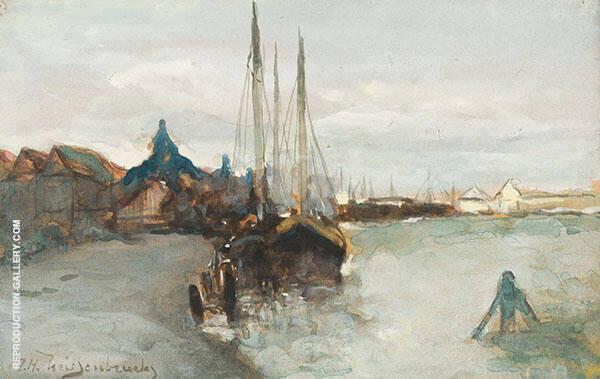 Harbour of Zaandam Painting By Johan Hendrik Weissenbruch