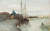 Harbour of Zaandam By Johan Hendrik Weissenbruch