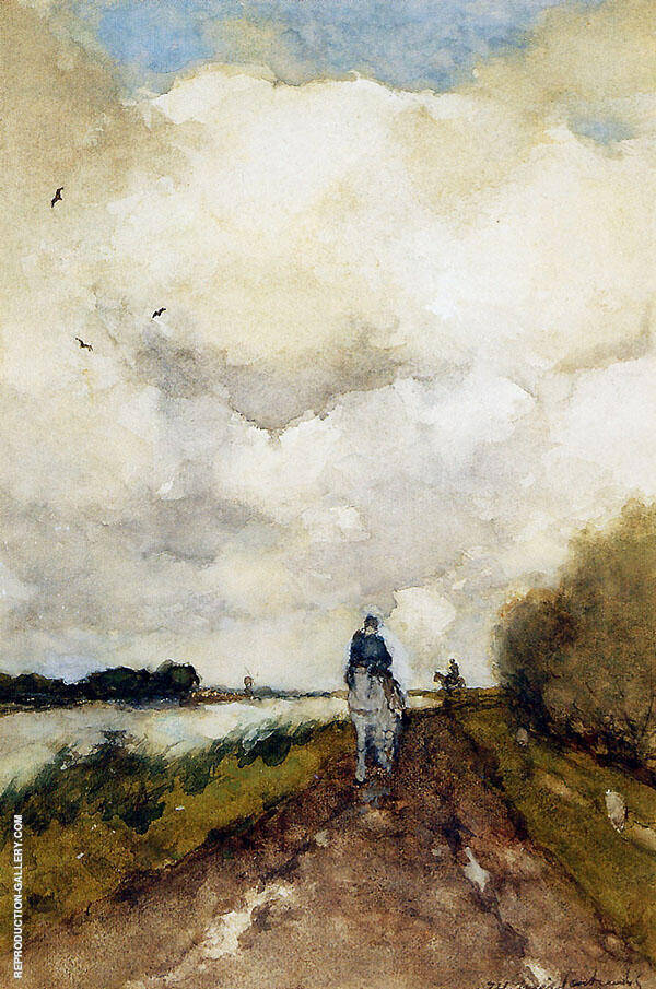 Horseman on Path Near Noorden By Johan Hendrik Weissenbruch