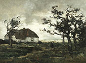 Landscape with Figure By Johan Hendrik Weissenbruch