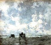 Shell Carts on The Beach By Johan Hendrik Weissenbruch