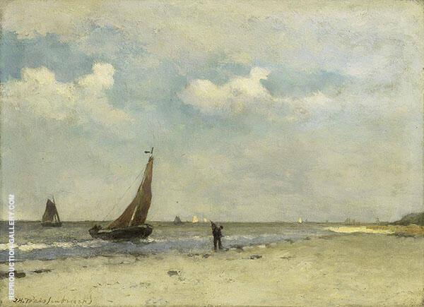 Strandgezicht Painting By Johan Hendrik Weissenbruch