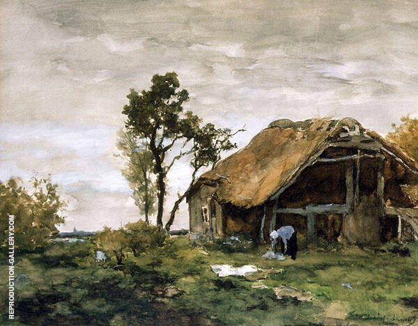 The Bleach Painting By Johan Hendrik Weissenbruch - Reproduction Gallery
