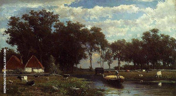 The Hay Bridge 1850 Painting By Johan Hendrik Weissenbruch