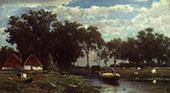 The Hay Bridge 1850 By Johan Hendrik Weissenbruch