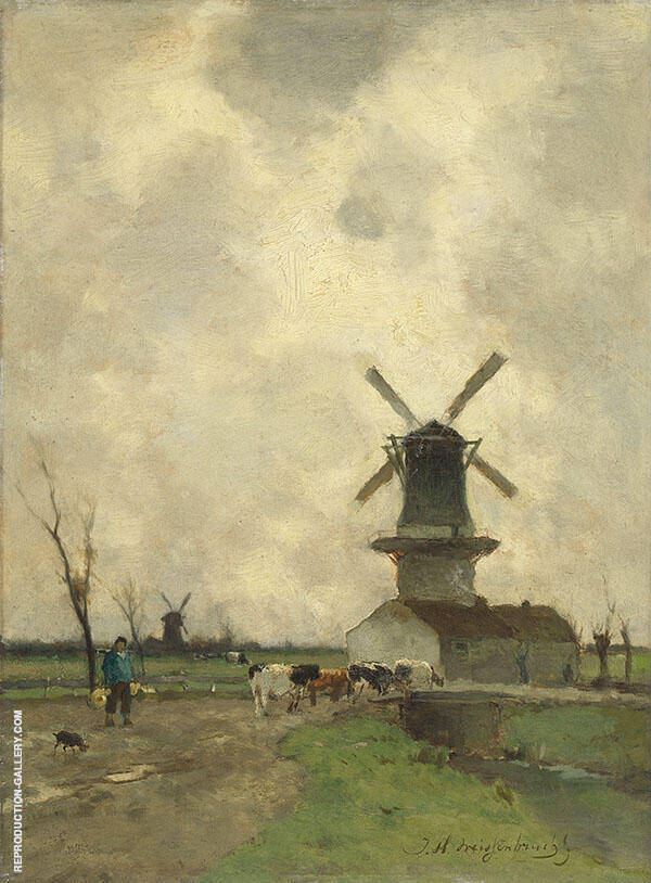 The Mill Painting By Johan Hendrik Weissenbruch - Reproduction Gallery