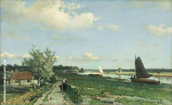 The View at Geestbrug Painting By Johan Hendrik Weissenbruch