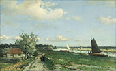 The View at Geestbrug By Johan Hendrik Weissenbruch