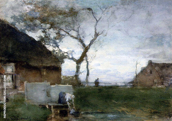 The Washing Place Painting By Johan Hendrik Weissenbruch