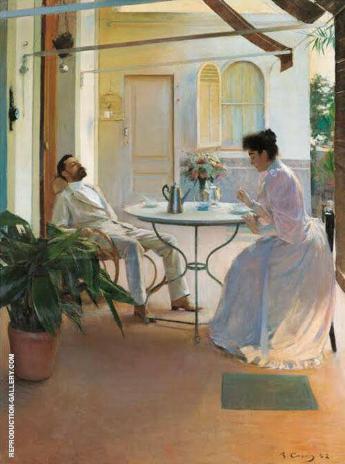 Interior al Aire Libre 1892 By Ramon Casas