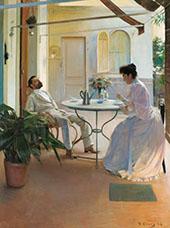Interior al Aire Libre 1892 By Ramon Casas
