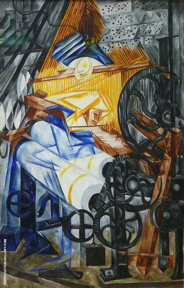 The Weaver 1910 Painting By Natalia Goncharova - Reproduction Gallery