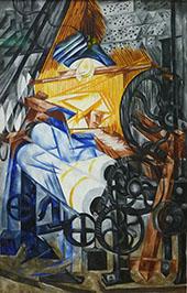 The Weaver 1910 By Natalia Goncharova