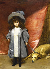 Child and Dog 1899 By Charles Auguste Emile Durand (Carolus-Duran)