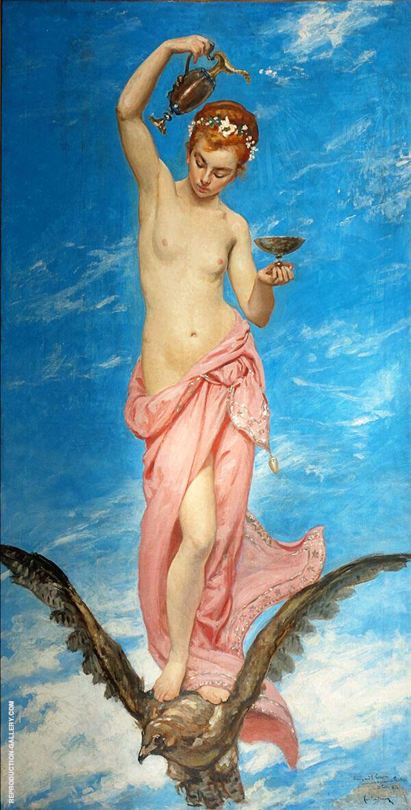 Hebe Painting By Charles Auguste Emile Durand (Carolus-Duran)